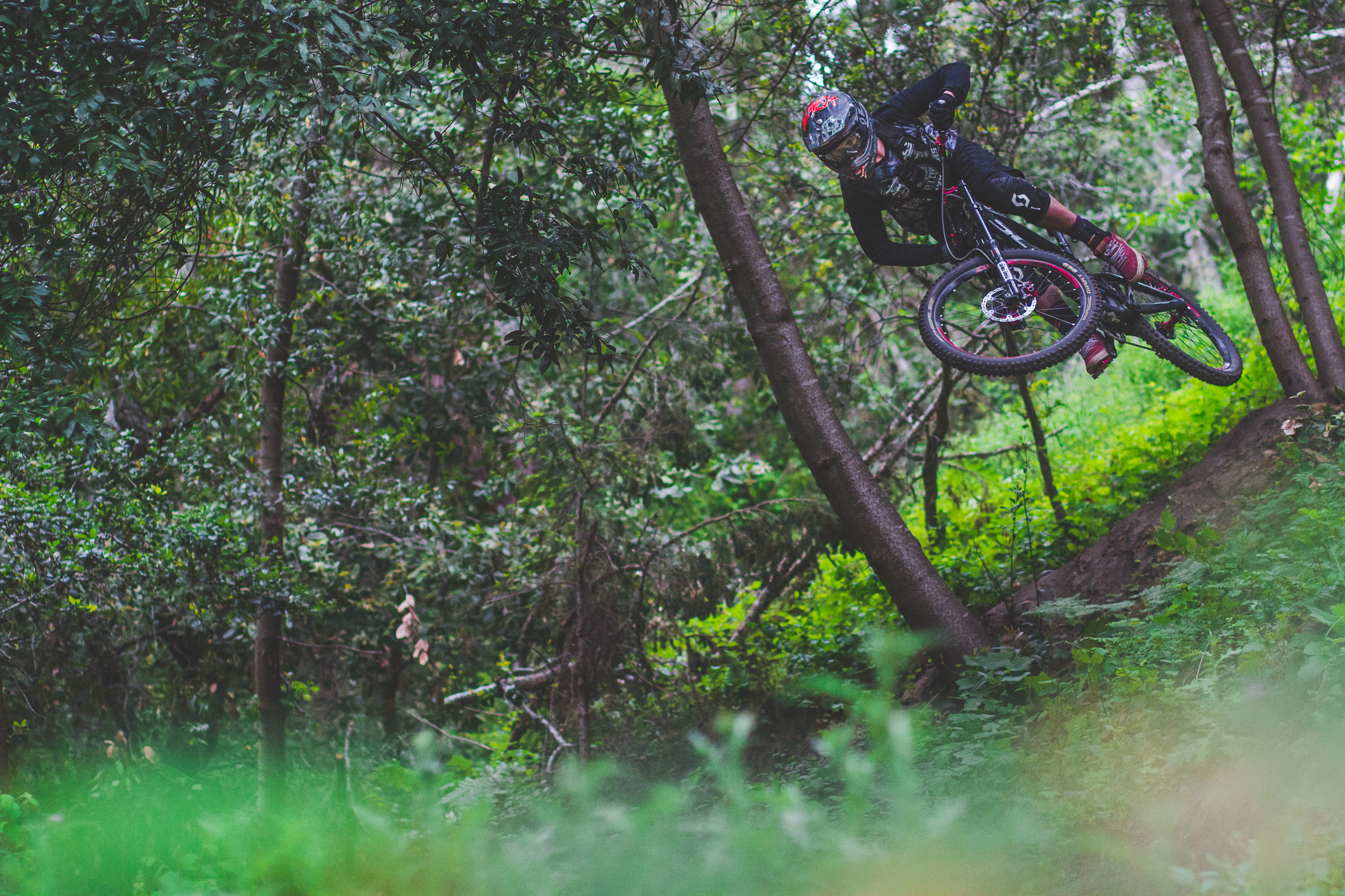 Nico Vink has spent the off-season recovering from his Rampage 2015 leg injury, building trails and jumps at the Royal Hills in France and getting back to riding his big bike. It was great to see him flowing around.