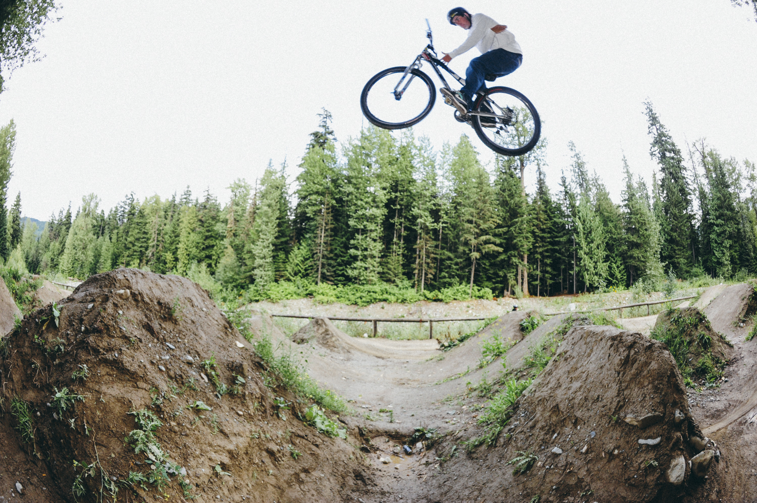 Ryan Howard, barspin at the River Jumps in Whistler.